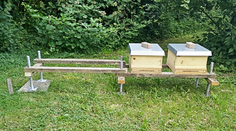 Bienenstand für vier Völker mit Gerüstfüßen